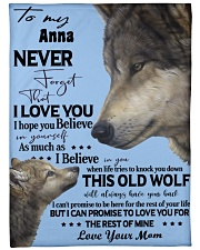 """Wolf Picture Custom Name Large Fleece Blanket - 60"""" x 80"""" front"""
