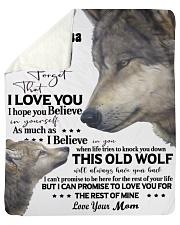 "Wolf Picture Custom Name Sherpa Fleece Blanket - 50"" x 60"" thumbnail"