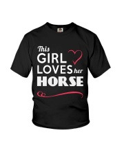 This Girl loves her horse Youth T-Shirt thumbnail