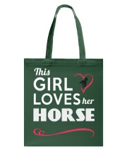 This Girl loves her horse Tote Bag thumbnail
