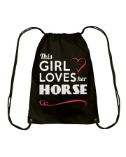 This Girl loves her horse Drawstring Bag thumbnail