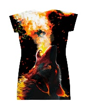 I LOVE WOLVES All-over Dress back
