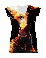 I LOVE WOLVES All-over Dress front