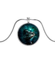 WOLF NECKLACE Metallic Circle Necklace thumbnail