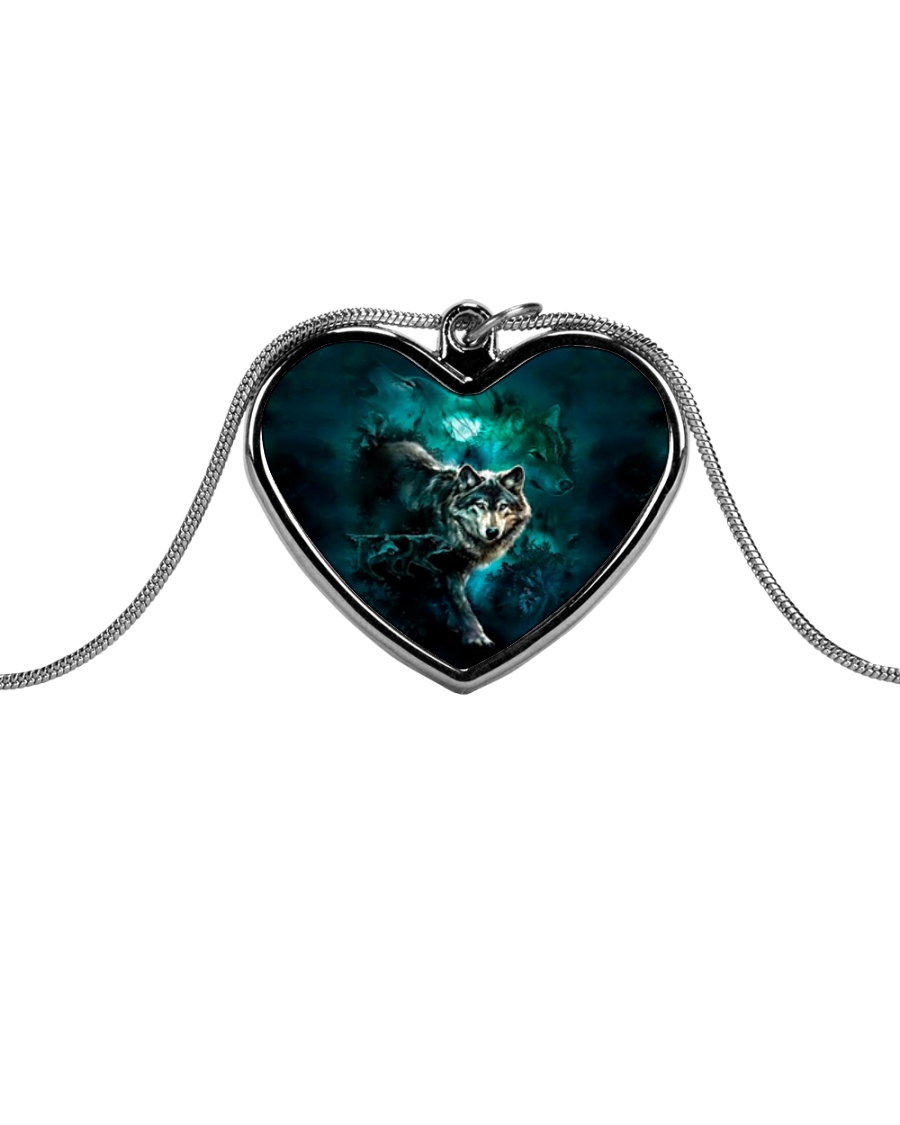 WOLF NECKLACE Metallic Heart Necklace