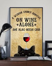 A Woman Cannot Survive On Wine Alone  11x17 Poster lifestyle-poster-2
