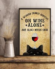 A Woman Cannot Survive On Wine Alone  11x17 Poster lifestyle-poster-3