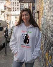 Black cat Hooded Sweatshirt lifestyle-unisex-hoodie-front-1