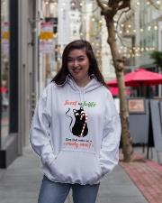 Black cat Hooded Sweatshirt lifestyle-unisex-hoodie-front-2