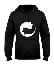 Yin and yang cat Hooded Sweatshirt tile