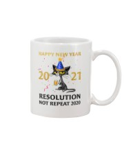 Happy New Year  2021 Resolution Not Repeat 2020 Mug front