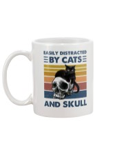 Easily Distracted By Cats And Skull Mug back