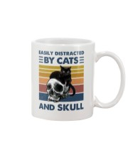 Easily Distracted By Cats And Skull Mug front