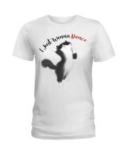 Black cat Ladies T-Shirt front