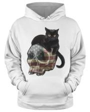 Skull cat Hooded Sweatshirt apparel-hooded-sweatshirt-lifestyle-front-34