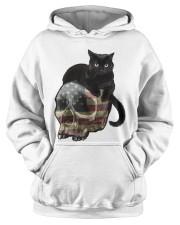 Skull cat Hooded Sweatshirt apparel-hooded-sweatshirt-lifestyle-front-39