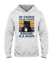 Black cat over coffee cup Hooded Sweatshirt tile