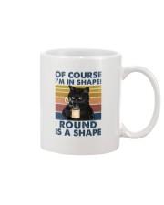 Black cat over coffee cup Mug tile