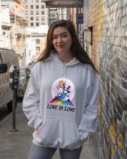 Love in Love Hooded Sweatshirt lifestyle-unisex-hoodie-front-1