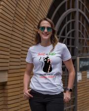 Black cat Ladies T-Shirt lifestyle-women-crewneck-front-2