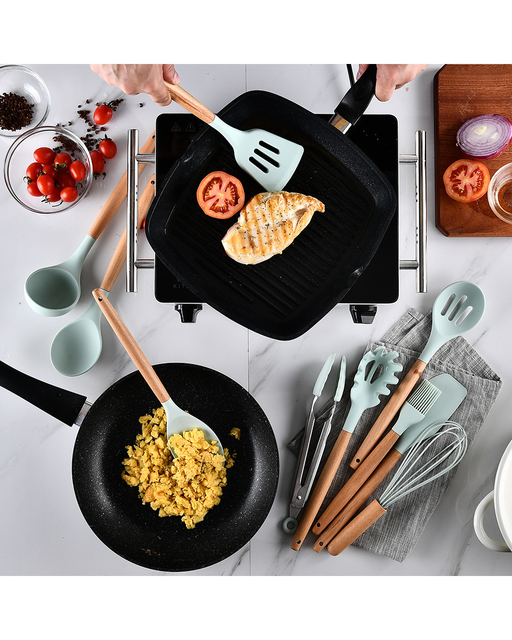 Silicone Cooking Utensils  Silicone Cooking Utensils 2