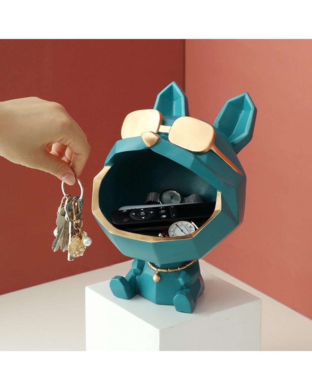Dog Storage Box Dog with glasses storage box 1