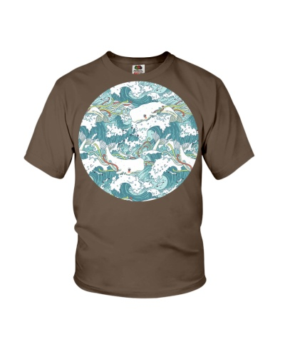 Whales and Waves Pattern