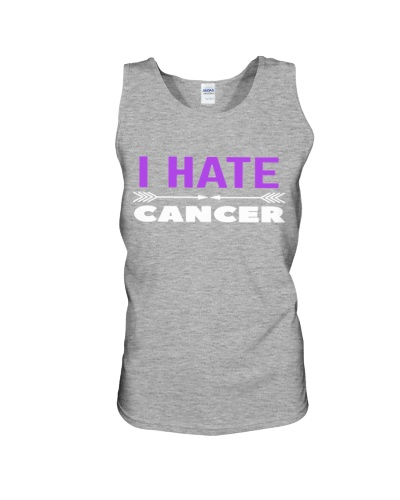 i hate cancer -purple ribbon cancer shirt