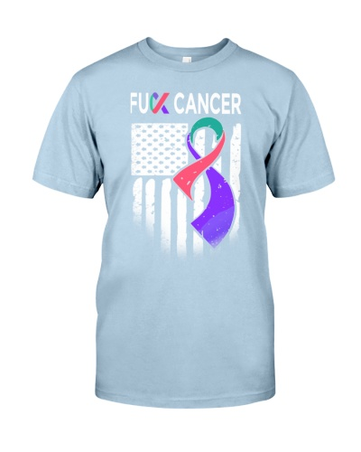 fuck thyroid cancer us flag leggings- tees