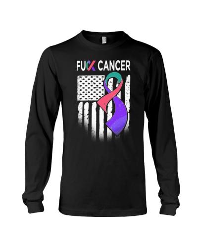 fuck thyroid cancer us flag leggings- tees