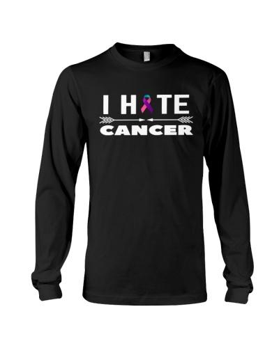 i hate cancer -thyroid cancer shirt