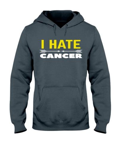 i hate cancer -yellow riibon cancer shirt