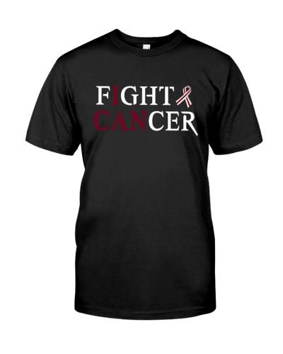 Head Oral throat cancer survivor support t shirt