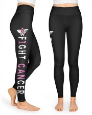 I can fight pink breast cancer leggings survivors High Waist Leggings front