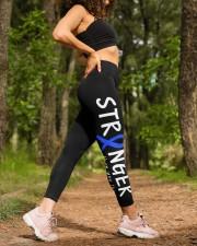 Dandy walker Colon cancer stranger blue ribbon High Waist Leggings aos-high-waist-leggings-lifestyle-20