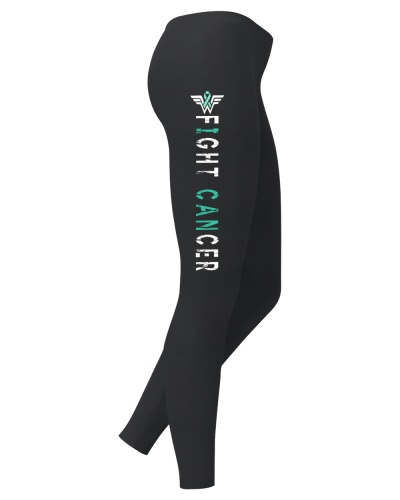 Fight teal cancer leggings