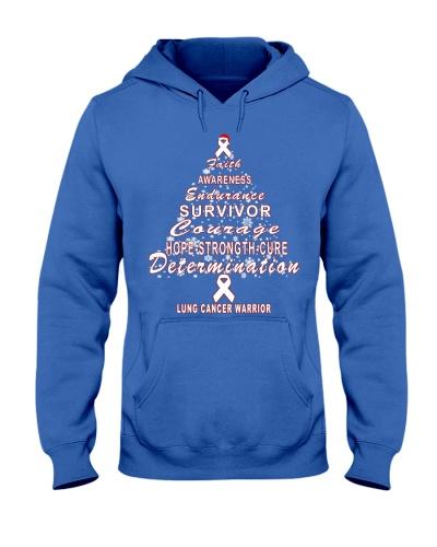 lung cancer Christmas tree shirt