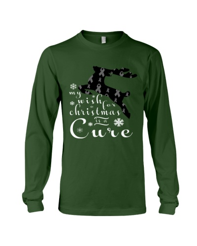 Limited Edition-brain cancer reindeer tees