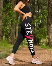 Breast cancer stranger pink cancer ribbon warriors High Waist Leggings aos-high-waist-leggings-lifestyle-20