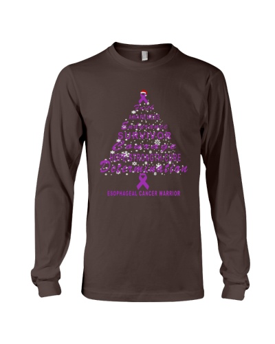 esophageal cancer Christmas tree t shirt