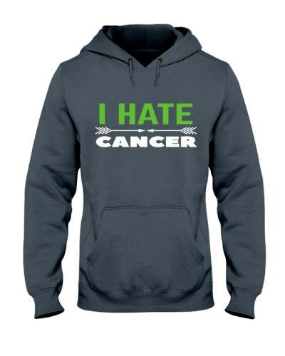 i hate cancer -green riibon cancer shirt