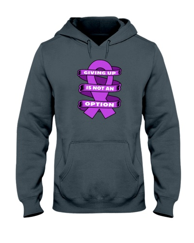 Giving up is not option-purple ribbon cancer shirt
