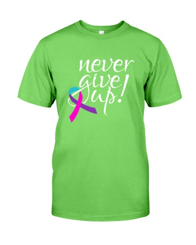 Giving up is not option-thyroid cancer t shirt