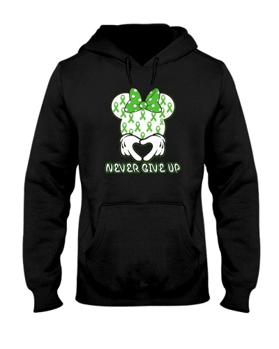 limited time- green ribbon never give up tees