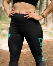 Teal ribbon hope leggings Ovarian Cervical cancer High Waist Leggings aos-high-waist-leggings-lifestyle-22