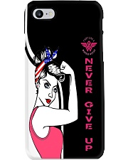 Pink breast cancer all over shirts Phone Case tile