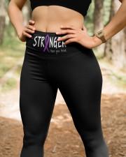 Purple ribbon cancer stranger sarcoidosis stomach High Waist Leggings aos-high-waist-leggings-lifestyle-22