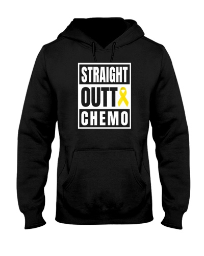 limited time-Yellow ribbo Straight Outta Chemo tee