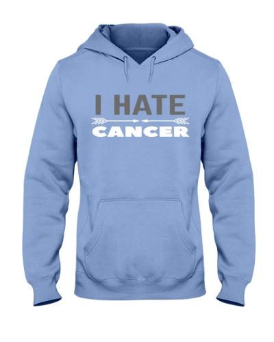 i hate cancer -brain cancer shirt