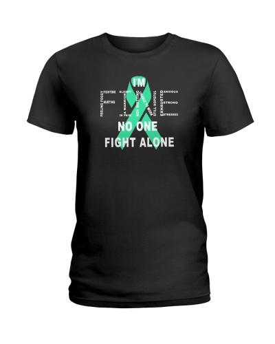 teal ribbon cancer i'm fine shirt